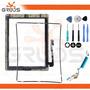 Kit Tela Touch Ipad 3 Home Cola Flex Wifi Frame Ferramentas