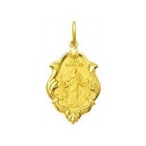 Medalha Nossa Senhora Desatadora Dos Nos Ouro 18k Pingente