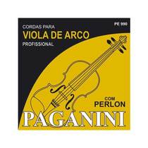 Encordoamento Paganini Torelli Viola De Arco C/ Perlon