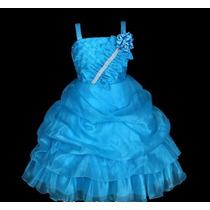 Vestido Infantil Festa/ Princesa/dama Florista Strass