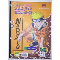 Bloco De Fichario Naruto Caderno Refil Universitario 96 Fls