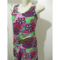 Vestido Em Liganete Floral Novo Sem Etiqueta Tam - M