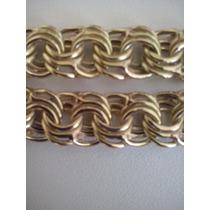 Cordão Friso Triplo Em Ouro 18k 750
