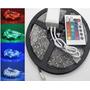 Fita Led 5m Ultra Rgb 5050 Prova Dagua + Controle + Plug