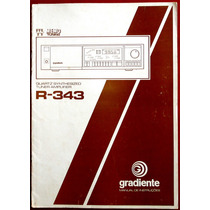 Manual Original Gradiente R343 Receiver