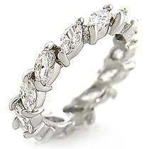 Aliança Em Prata Com Gotas De Zirconias - Luxo - Promoção