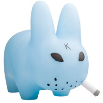 Art Toy Labbit 10 Clear Blue Kozik Kidrobot Dunny Kaws