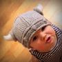 Touca Viking De Crochê Bebês Newborn Para Fotografia Reborn