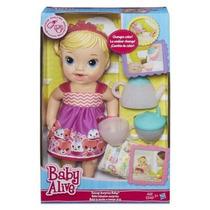 Baby Alive Hora Do Chá Hasbro Loira Hb A9288