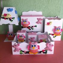 Kit Higiene Corujinha / Coruja 7 Peças *s/ Porta Maternidade