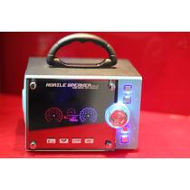 Caixa De Som Portátil Radio Fm Mp3 Grande Ad-a9 10w Rms