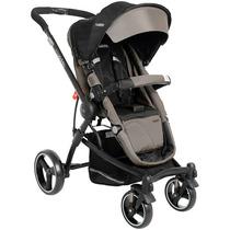 01 Carrinho De Bebê Kiddo Aspen 5154 - Capuccino Preto Lenox
