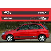 Kit Faixas Adesivos Chevrolet Corsa Ss Css005 - 3m - Decalx