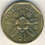 Cingapura - 1 Dolar De 1.990.            Frete 12,00