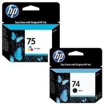 Kit De Cartucho De Tinta Hp 74(preto) E 75(color) Originais