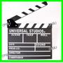 Claquete Madeira Universal Studios Filmagens, Decoração Mdf