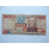 Cedula De 5000 Mil Pesos Uruguay - Bc - Comfira