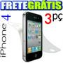 Película Iphone 4 4s Frente E Verso Fosca Ou Transp Fret Gra