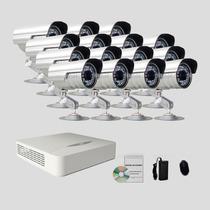 Kit Monitoramento Dvr Stand Alone 16 Canais Jfl 15 Cameras