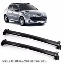 Rack De Teto Bagageiro Peugeot 206 4 Portas 01/10 6135 Preto