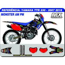 Adesivos - Ttr 230 2007 2016 - Monster Am Pm - Qualidade 3m