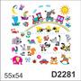 D2281 Adesivo Decorativo Trem Trenzinho Animais Zebra Sol