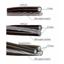 Fio Cabo Multiplex Triplex 16 Aluminio Com 100 Metros