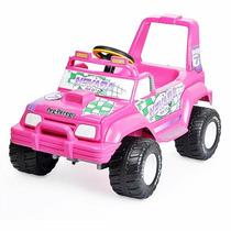 Jeep Carro Menina Nevada Pick-up Elétrico Pink Peg Perego