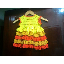 Vestido De Bebe Em Crochê.