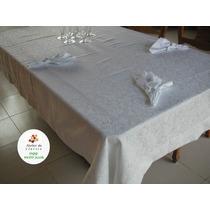Toalha Mesa 8 Lugares. 250x150 Cm. Jacquard Algodão