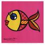 Poster (20 X 20 Cm) Swimmingly Pink Romero Britto