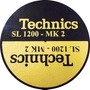 Feltro Technics Sl1200 Mk2 Dourado C Preto Mod Grosso Slipma