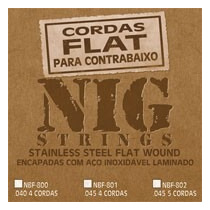 Cordas Nig Flat Nbf 801 P/ Baixo 5 Cordas - .045 -.100