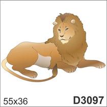 Adesivo D3097 Leoa Rei Da Floresta Leao Animal Decorativo