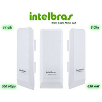 Antena Wireless Cpe Intelbras Wom 5000 5ghz 14dbi Mimo 2x2