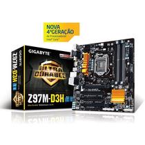 Placa Mãe Ga-z97m-d3h Gigabyte Ddr3 3100mhz Chipset Z97