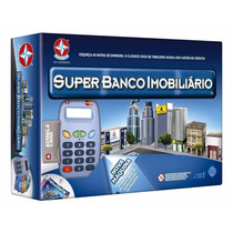 Jogo Super Banco Imobiliário Estrela Máquina De Cartões Novo