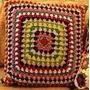 Capa Para Almofada Multicolorida Em Crochê - Decoração