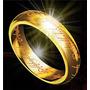 Anel O Um O Senhor Dos Anéis Original Banhado Ouro 18k Lindo