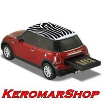 Pen Drive Autodrive Mini Cooper 8gb Zebra Vermelho Compre Me