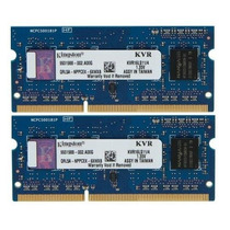 Kit 8gb (2x4gb) Ddr3l 1600mhz Kvr16ls11/4 P/ Dell Inspiron