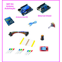 Net Kit Arduino Com Uno R3 + Ethernet Shield Automação Book