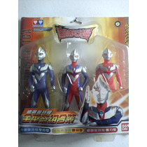 3 X Bonecos Ultraman Tiga - Ultramen Bandai