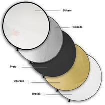 Rebatedor Circular 110cm Dobrável 5 Em 1