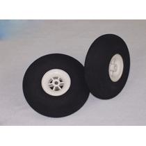 Roda De Espuma C/cubo Nylon Raiado 2.75 Ou 70mm (par)