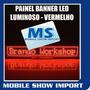 Banner Painel Led Digital Luminoso Placa Letreiro Vermelho