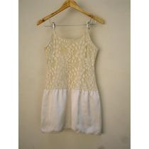 Vestido Branco Da Farm Bordado De Renca Frete Grátis
