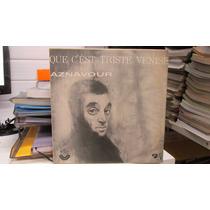Lp Charles Aznavour Que Cést Triste Venise Com Paul Mautiat