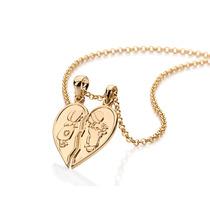 Pingente Cara-metade Coração Menina E Ouro Rommanel