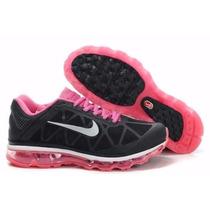 Tenís Nike Air Max 2011 2015 Preto E Rosa Feminino Original